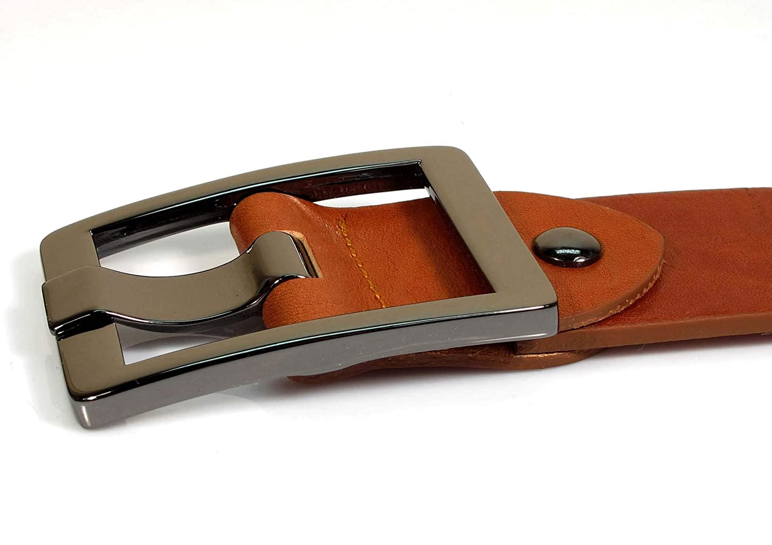 TM1 Mens Real Genuine Leather Belt Black Brown White 1.5 Wide S-XL Casual Jeans
