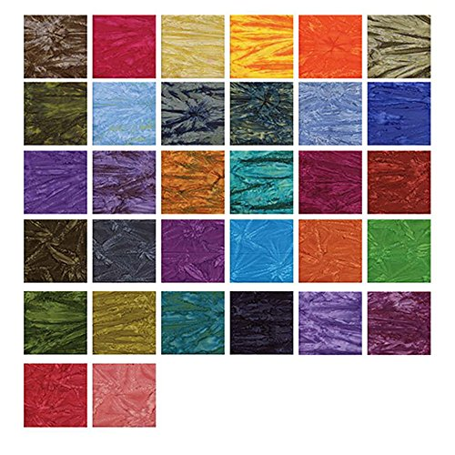 Benartex TIE-DYE BALI BATIKS Jelly Roll 2.5  Precut Cotton Fabric ... : cotton fabric quilting - Adamdwight.com