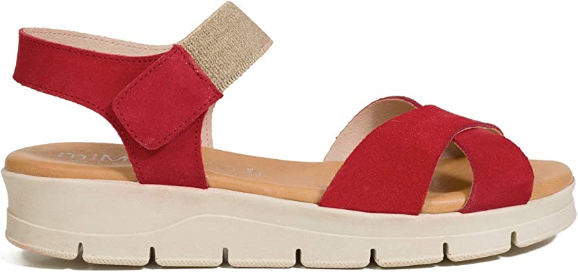 Confort – Sandalia Plantilla mullida ROJA: Amazon.es: Zapatos y ...