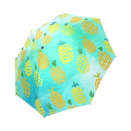 Amazon.com: Piña plegable paraguas Sun Lluvia Paraguas De ...