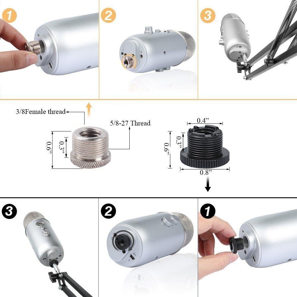 Einstellbare Mikrofonständer Mikrofonhalter Mikrofonarm Spinne und Adapter DHL