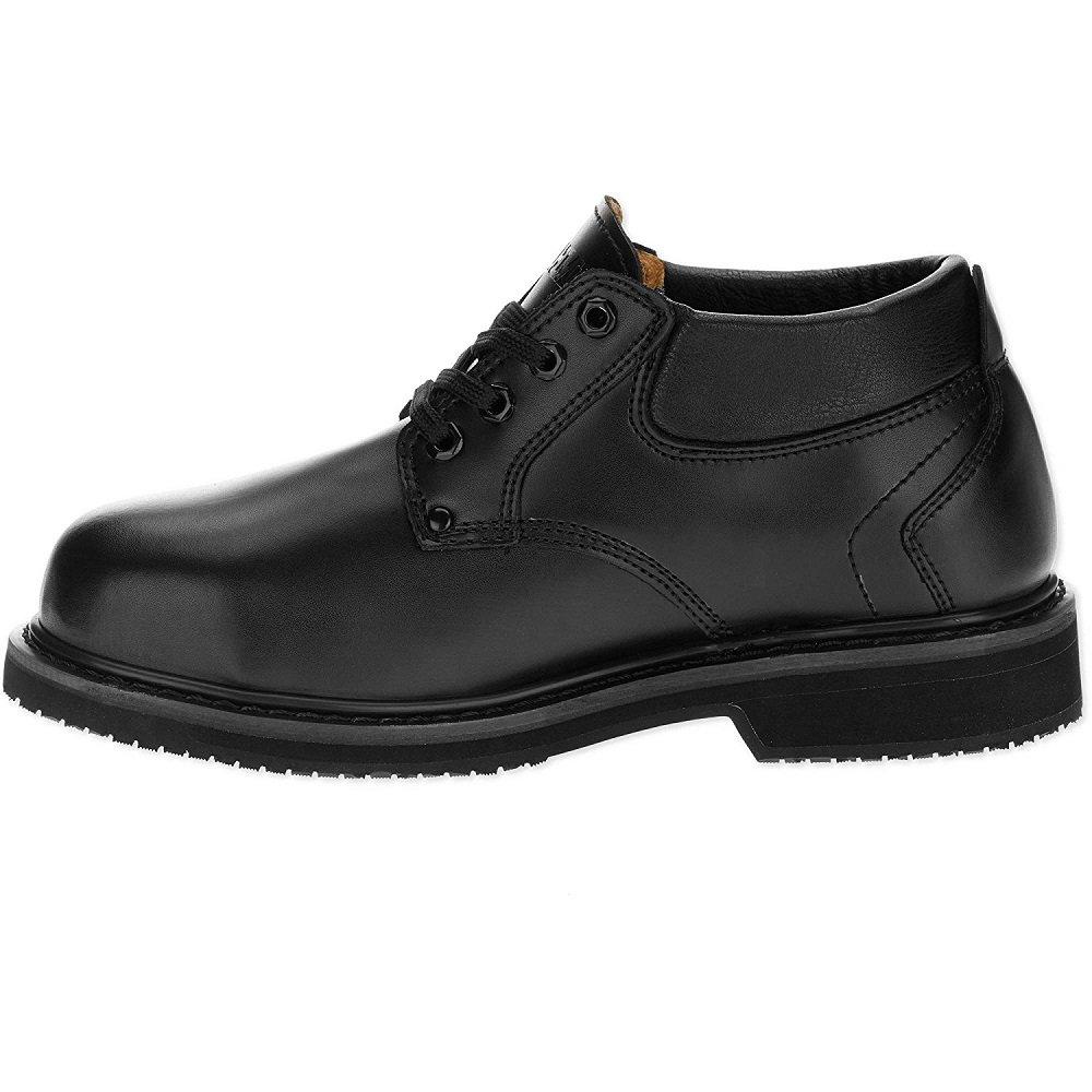 Brahma Men's Leader Steel Toe Slip-Resistant Work Shoe, Black (8.5 US / 26.5 MEX)