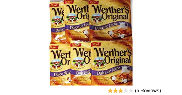 Amazon.com : Werthers Original Dulce De Leche Soft and Creamy Caramel Bites 2.46 Oz (69.7g) Pouch (6 Pack) : Grocery & Gourmet Food