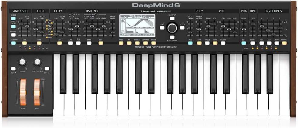 Behringer Deepmind6, Teclado, Synthesizer