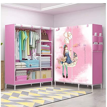 3d Pattern Wardrobe Non-woven Folding Cloth Wardrobe Reinforcement Combination Small Closet Assembly Clothes Storage Cabinet Terrific Value Wardrobes Home Furniture