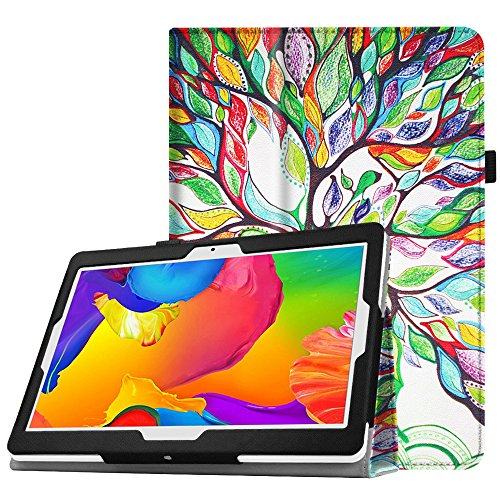 Fintie Case for Yuntab 10.1 (K107/K17), Premium PU Leather Folio Cover with Stylus Holder, Compatible with YELLYOUTH 10.1, BENEVE 10.1, Wecool 10.1, Tagital 10.1 Inch Android Tablet, Love Tree
