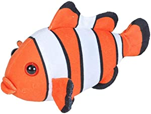 Wild Republic Plush Stuffed Animal Toy, Gifts for Kids, Sea Critters, Clownfish, 8 Inches