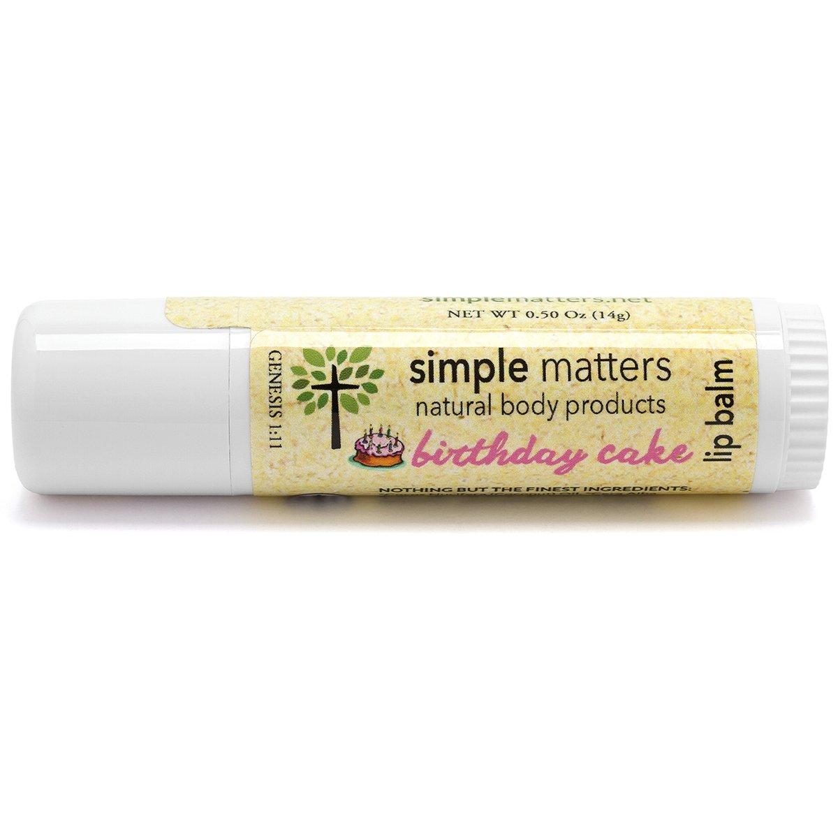 Amazon Simple Matters Organic Birthday Cake Lip Balm 050 Oz