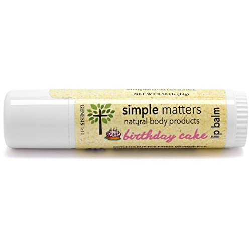 Amazon Simple Matters Organic Birthday Cake Lip Balm