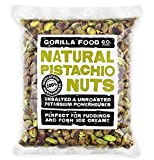 Gorilla Food Co. California Pistachios Shelled Raw (No Shell) Kernels Unsalted - 16OZ Resealable Bag
