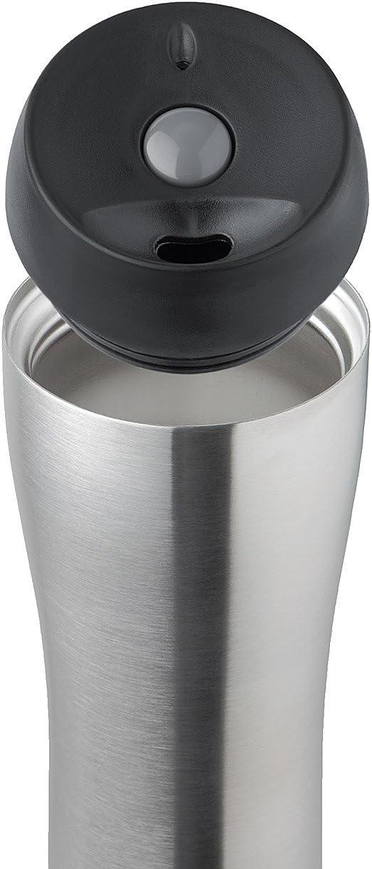 Isosteel VA-9581Q con Sistema Quickstop Utilizzabile con Una Sola Mano Borraccia Termica da 0,4 l in Acciaio Inossidabile 18//8