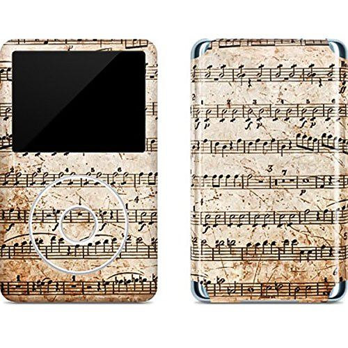 Ipod Classic Device Skin - Music iPod Classic (6th Gen) 80 & 160GB Skin - Antique Notes Vinyl Decal Skin For Your iPod Classic (6th Gen) 80 & 160GB