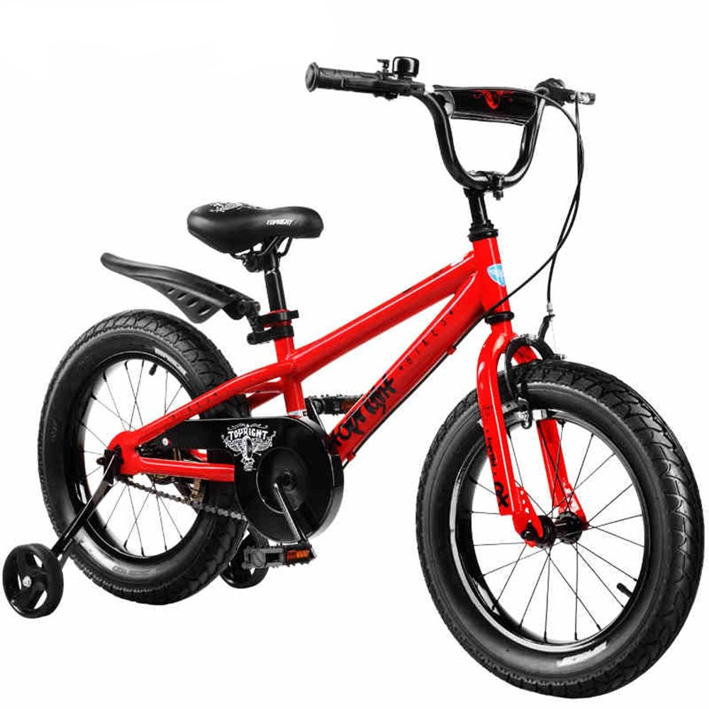 YANGFEI 子ども用自転車 16インチ、18インチ、子供用ギフト、キッズバイク、ボーイのバイク、ガールズバイク 212歳 B07DWR3GLX 18 inch 赤 赤 18 inch