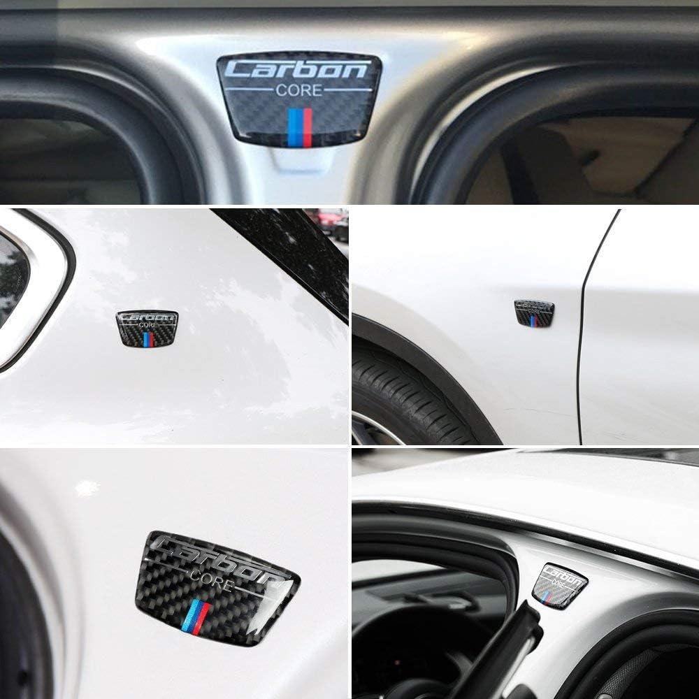Blizim 2 Piezas Coche Pegatina Fibra de Carbon Columna B Decoraci/ón para BMW