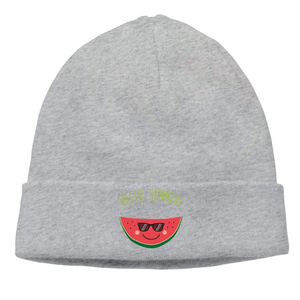 09/&JGJG Cartoon Watermelon Hello Summer Men /& Women Fleece Beanie Hat Knit Warm Fleece Lined Skull Cap