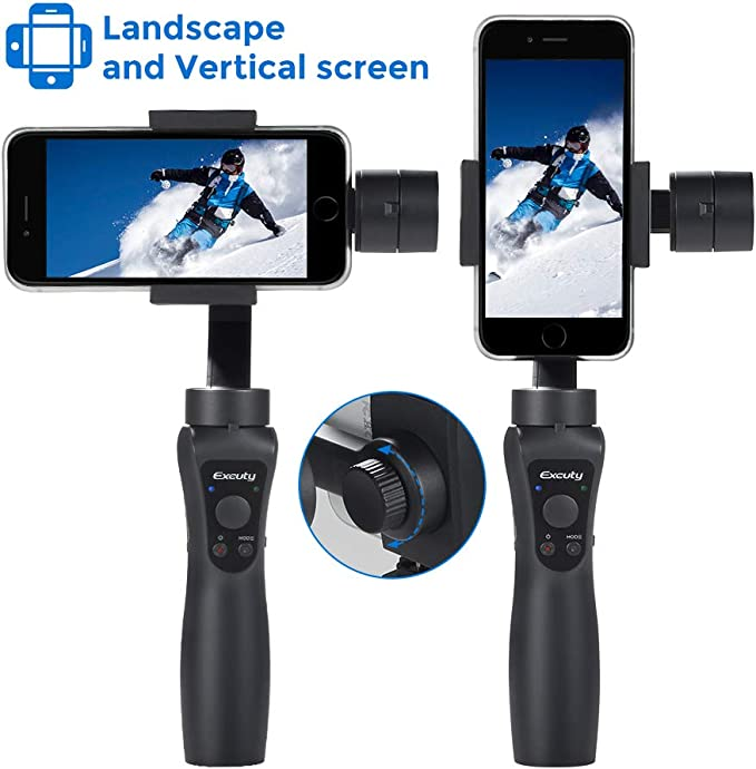 EXCUTY 3 Axis Handheld Gimbal para iPhone y Android Smart iPhone ...