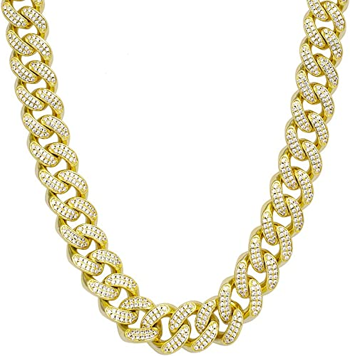 Stainless Steel 4mm Red Iced Out Cubic Zirconia Tennis Chain Necklace