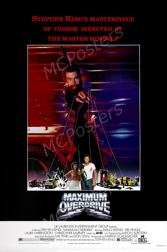 "MCPosters - Maximum Overdrive Stephen King Glossy Finish Movie Poster - MCP624 (24"" x 36"" (61cm x 91.5cm))"