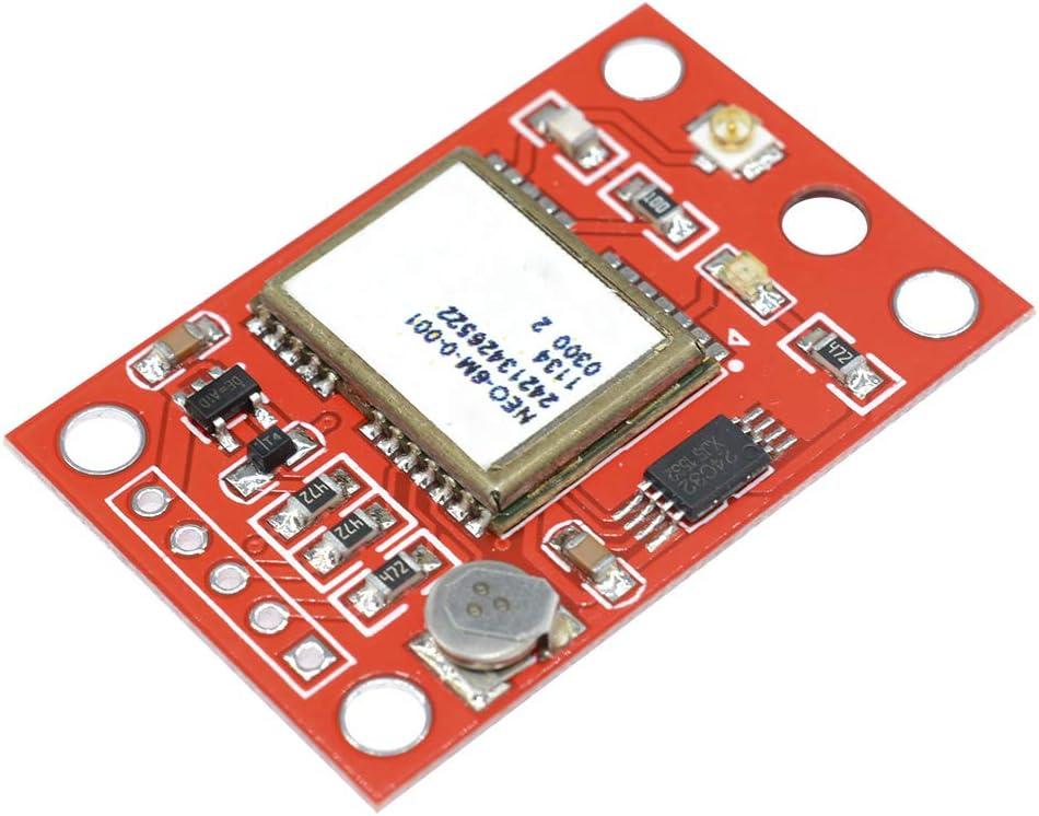 Ketong GY-NEO6MV2 NEO-6M M/ódulo GPS NEO6MV2 con tablero de control de vuelo EEPROM MWC APM2 APM2.5 Controlador de antena grande para Arduino