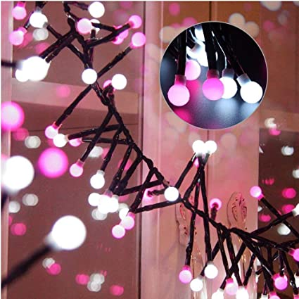 yming globe string lights 98ft 400 led 8 modes decorative plug in fairy lights