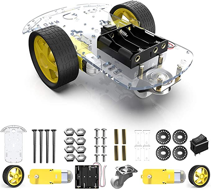 1set 4WD smart robot car chassis kits with Speed Encoder for arduino w//SK