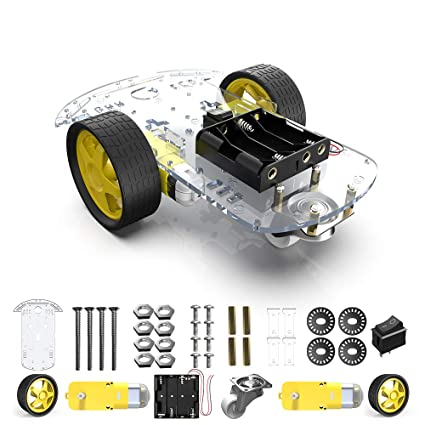 29f571aee Amazon.com: diymore 2WD Smart Robot Car Chassis Kit with 2 Motor (1:48) Speed  Encoder Battery Box for Arduino UNO Project: Toys & Games