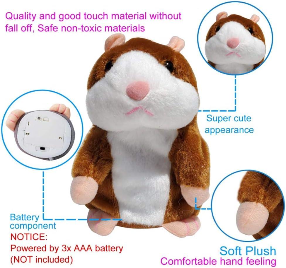 Bofum Sprechen Hamster Plüsch Interaktives Spielzeug Wiederholen Sie, was Sie Sagen Mimicry Pet Talking Record für Jungen und Mädchen Geschenk Ac
