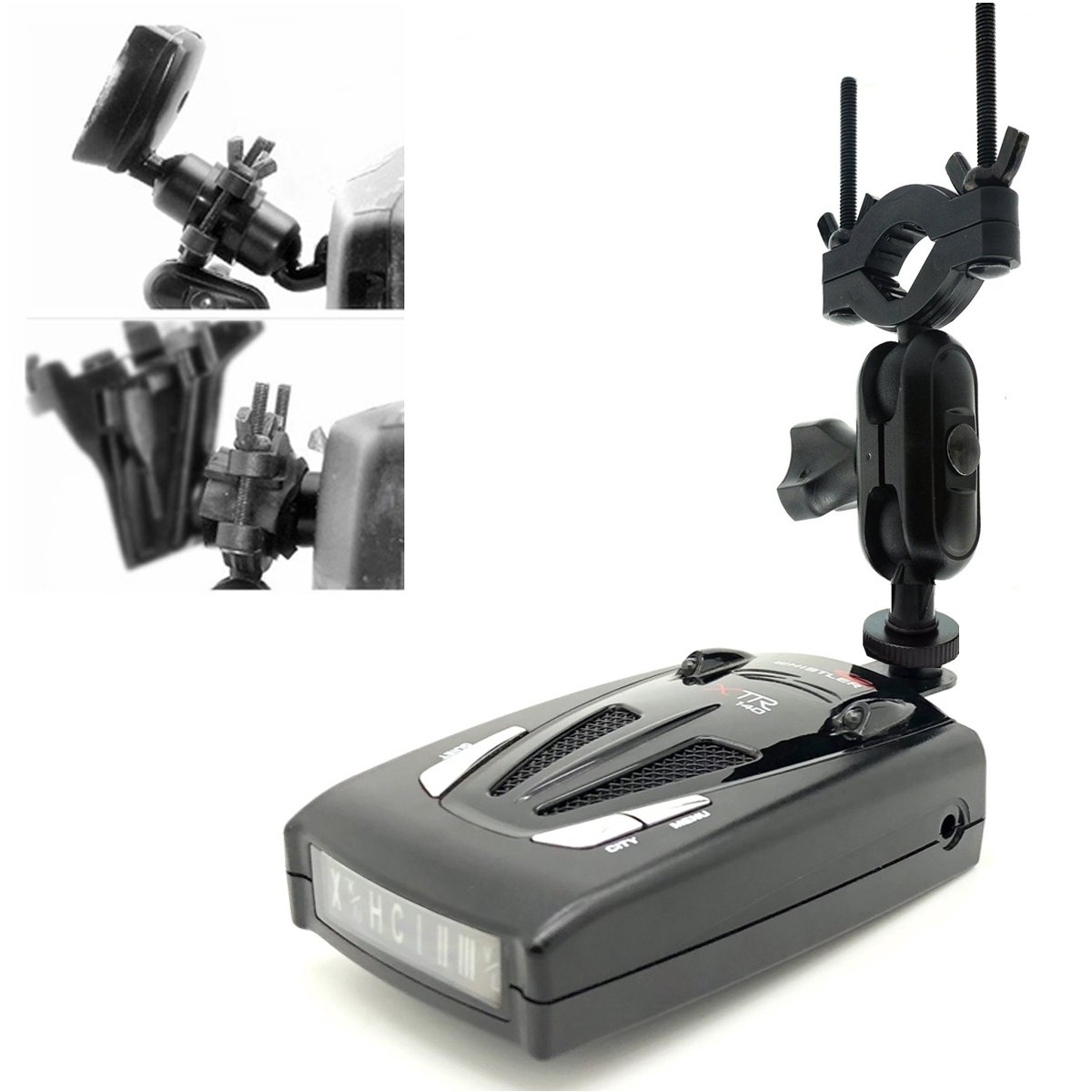 AccessoryBasics Car Rearview Mirror Radar Detector Mount Holder for All Whistler Radar Detector (CR65 CR 70 CR75 CR80 CR85 CR90 CR93 Pro DE17xx All XTR) Require min.of 1''inch stem space to setup by ChargerCity (Image #2)