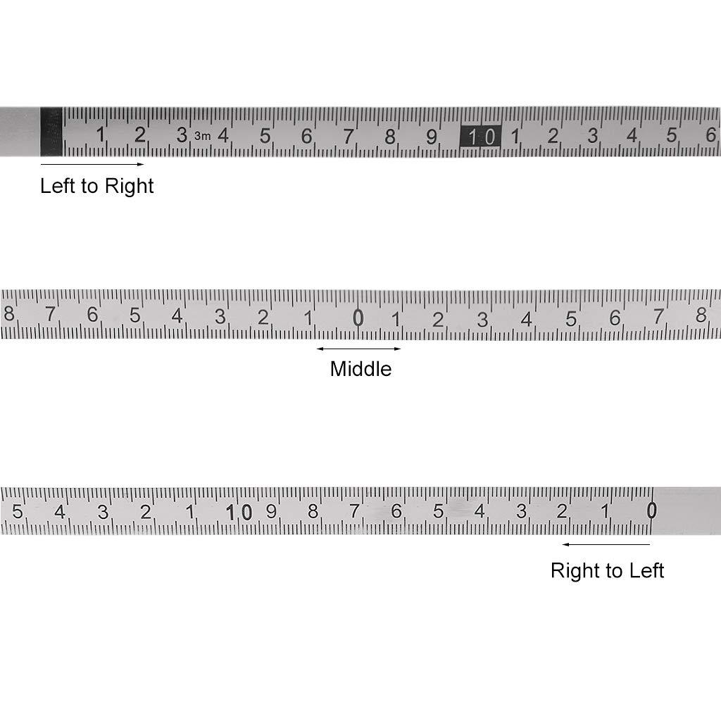 Tischs/äge M 3 m 1 m Holzbearbeitungswerkzeug metrisches Ma/ßstab Tubicu Gehrungsband aus Edelstahl f/ür T-Track-Router 1 m Edelstahl selbstklebend