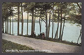 casco bay me harpswell sound from gurnet house postcard