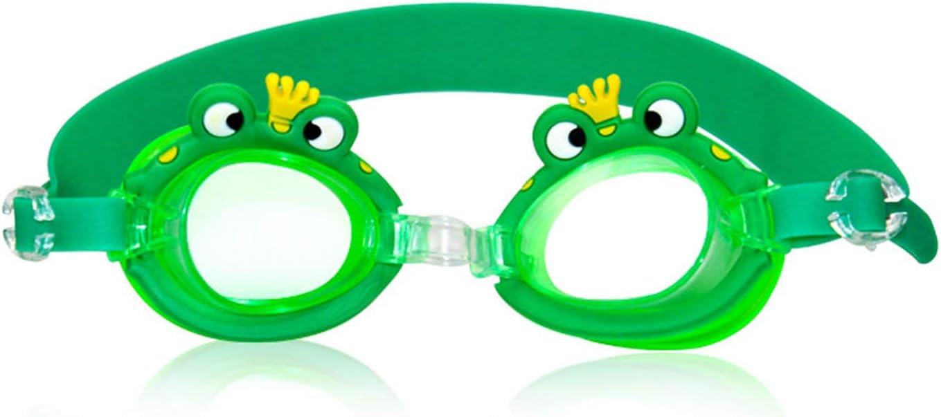 Winthai - Gafas de natación para niños, diseño de dibujos animados, antivaho, impermeables, para niños de 3 a 8 años