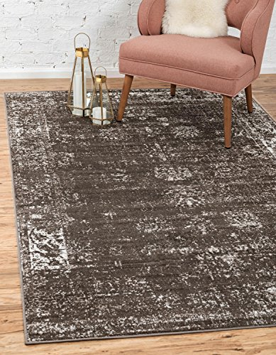 Unique Loom Sofia Collection Traditional Vintage Brown Area Rug (3' x (Accents Collection Vintage Rug)
