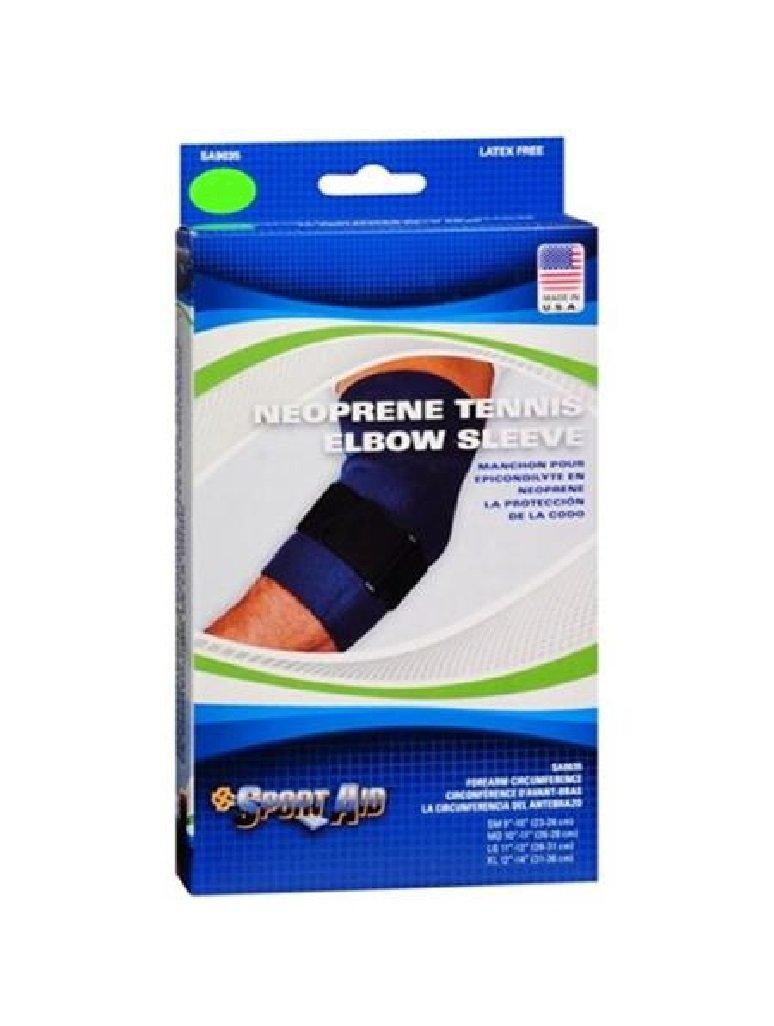 Sport Aid Neoprene Elbow Brace, Medium, Blue [1 Each (Single)] by SCOTT SPECIALTIES CMO INC
