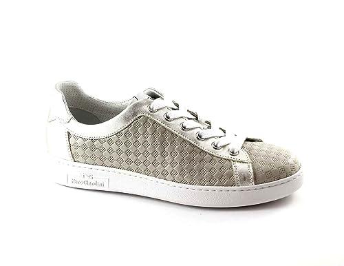 NERO GIARDINI 17255 beige scarpe donna sportive sneakers lacci