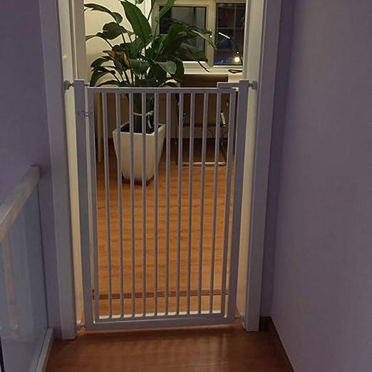 Barrera Seguridad Puerta de Seguridad para bebés Blanca para escaleras/pasillos, Montaje a presión para Aberturas de 60 cm a 122 cm, Altura de 90 cm (35,4 Pulgadas), instalación fácil: Amazon.es: Hogar
