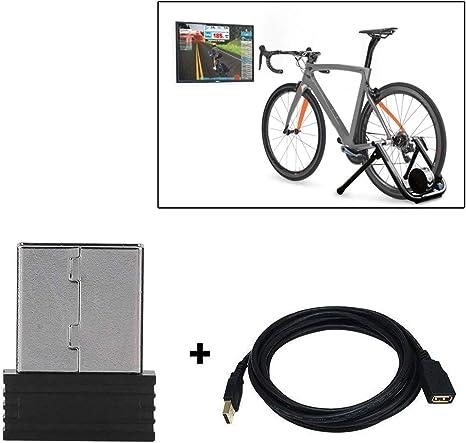 XIN DU QU Accesorios para bicicleta Mini ANT+ USB Stick Adaptador Sensor de velocidad de bicicleta (inalámbrico + cableado): Amazon.es: Deportes y aire libre