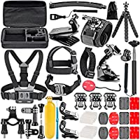 Neewer 50-In-1 Action Camera Accessory Kit for GoPro 7 GoPro Hero 6 5 4 3+ Hero Session 5 Apeman DJI OSMO Action SJ6000...