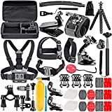 #9: Neewer 50-In-1 Action Camera Accessory Kit for GoPro Hero Session/5 Hero 1 2 3 3+ 4 5 SJ4000 5000 6000 DBPOWER AKASO VicTsing APEMAN WiMiUS Rollei QUMOX Lightdow Campark And Sony Sports DV and More