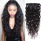 Natural Curly Clip in Human Hair Extensions for Black Women Natural Wave Real