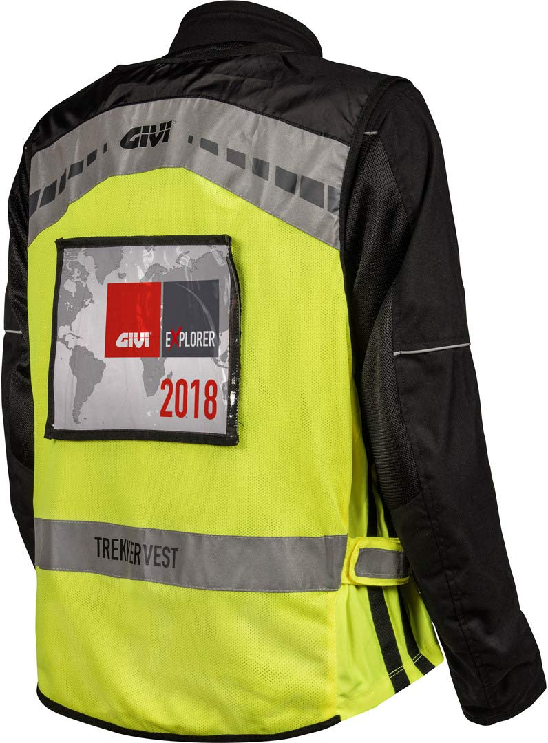 GIVI chaleco fl/úor Trekker Vest Alta visibilidad vest02/para moto y Scooter L//XL amarillo FLUO