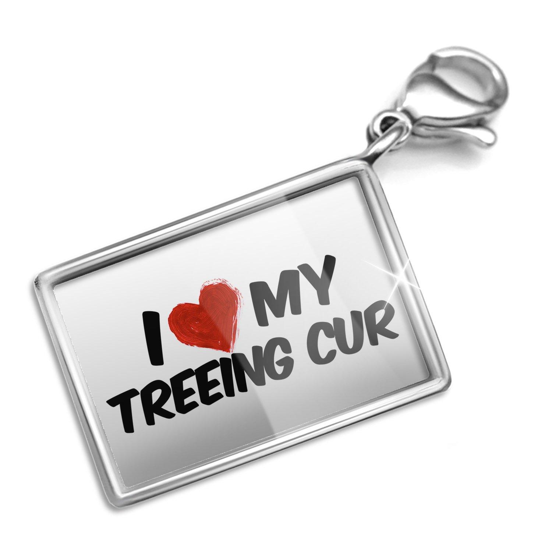 Amazon.com: Clip on Charm & Bracelet Set I Love my Treeing Cur Dog ...