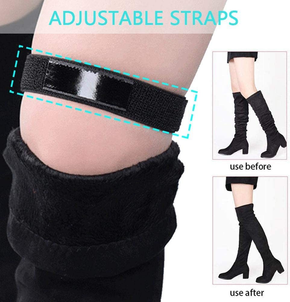 SATINIOR Adjustable Boots Straps Knee Boots Straps with Viscosity Tape Elastic Boots Fixed Straps for Boots Anti-Slip Straps Keeping Boots No Fall Off