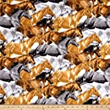 CAMELOT Fabrics Fleece Running Horses Brown Fabric by The Yard,