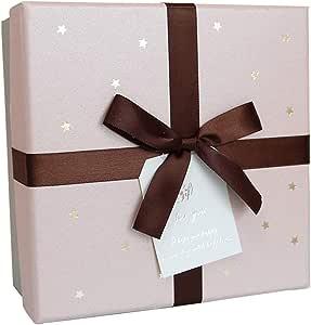 Caja Regalo de cumpleaños de Vacaciones Amantes de Amigo Cubierta Blanca Decoración de Cinta de Color café (Tamaño : S(14×14×7cm)): Amazon.es: Hogar