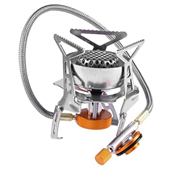 Broadroot 1pc Mini portátil estufa de gas plegable para senderismo Picnic Camping estufa de gas accesorios: Amazon.es: Deportes y aire libre