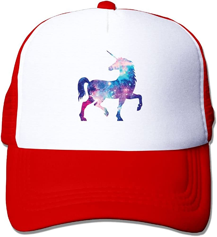 Universe Unicorn Mesh Caps Adjustable Unisex Snapback Trucker Cap
