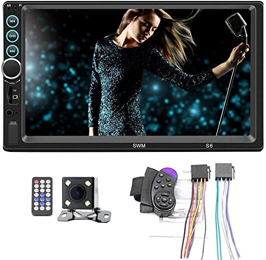 """7/"""" Car Touch Screen Stereo Radio MP5 MP3 Player BT USB AUX In Dash 2DIN"""