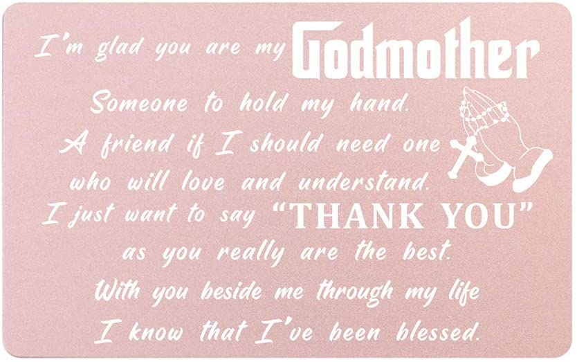 Godmother Gifts Wallet Card from Goddaughter Godson, Thank You Godmother Gift, Will You Be My Godmother, Personalized Godmother Gift for Birthday Christmas Mothers Day