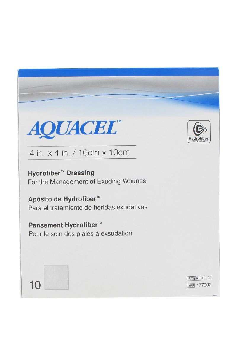 ConvaTec Aquacel Hydrofiber Dressing (4''''x4'''') (Box of 10)