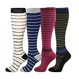HLTPRO Compression Socks for Women & Men - 4 Pairs